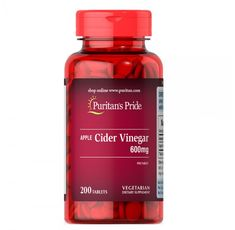 Puritan's Pride - Apple Cider Vinegar 600 mg / 200 таблетки​