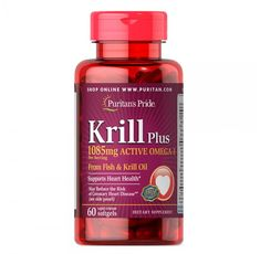 Puritan's Pride - Krill Oil Plus High Omega-3 Concentrate 1085 мг - 60 дражета​