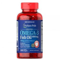 Puritan's Pride - Omega-3 Fish Oil / 1000 мг  -100 дражета​