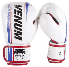 Боксови ръкавици - Venum Bangkok Spirit Boxing Gloves - Nappa leather - White
