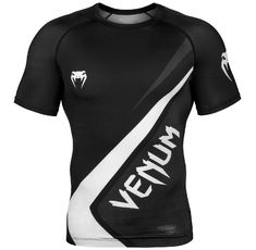 Рашгард - Venum Contender 4.0 Rashguard - Short Sleeves - Black/Grey-White