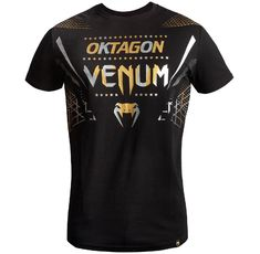 Тениска - Venum Oktagon T-shirt - Black/Gold-Silver