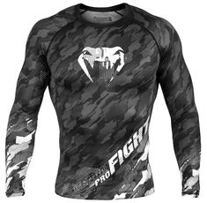 Рашгард -Venum Tecmo Rashguard Long Sleeves - Dark/Grey