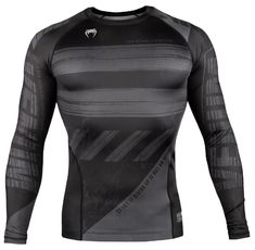Рашгард - Venum AMRAP Compression T-shirt - Long Sleeves - Black/Grey