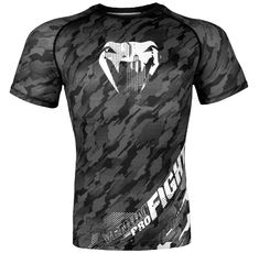 Рашгард - Venum Tecmo Rashguard - Short Sleeves - Dark Grey