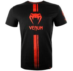 Тениска - Venum Logos T-Shirt - Black/Red