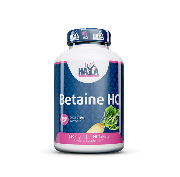 Haya Labs - Betaine HCL 650mg. / 90 Tabs.