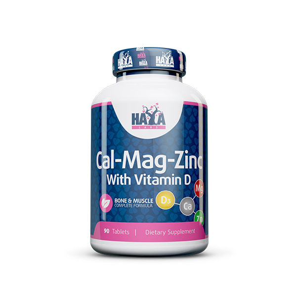 Haya Labs - Calcium Magnesium & Zinc with Vitamin D / 90 tab