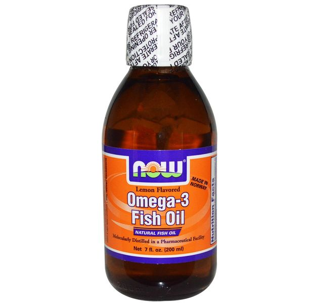 NOW - Omega 3 Fish Oil Liquid / 200ml - Lemon