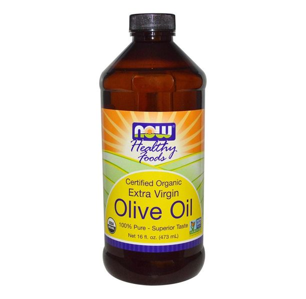 NOW - Olive Oil - Organic Extra Virgin - 473 ml.