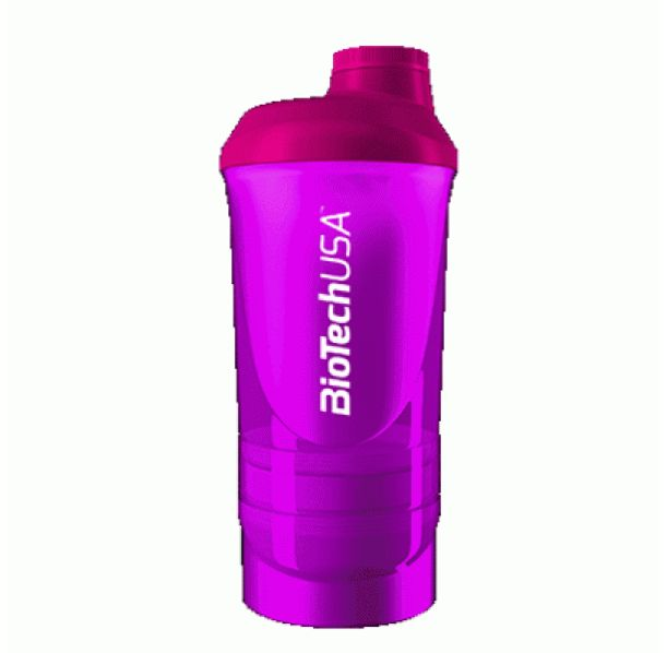 BioTech - Shaker Wave+ Purple - с отделения / 600ml.