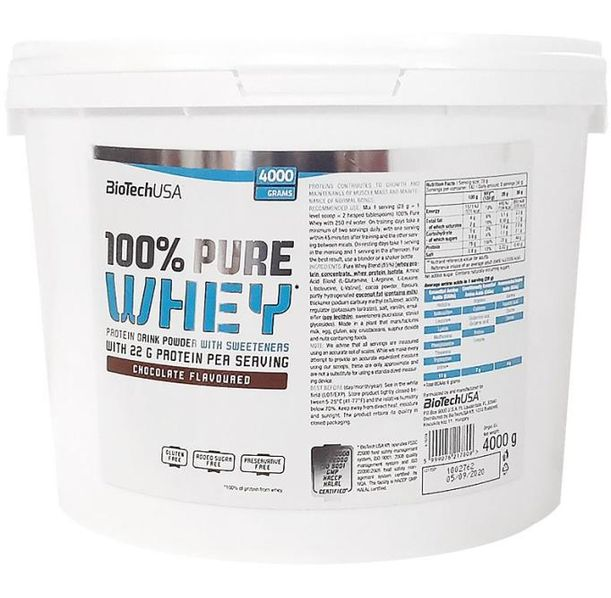 BioTech - 100% Pure Whey / 4000gr.