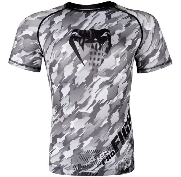 Рашгард - Venum Tecmo Rashguard Short Sleeves - Black/Grey​