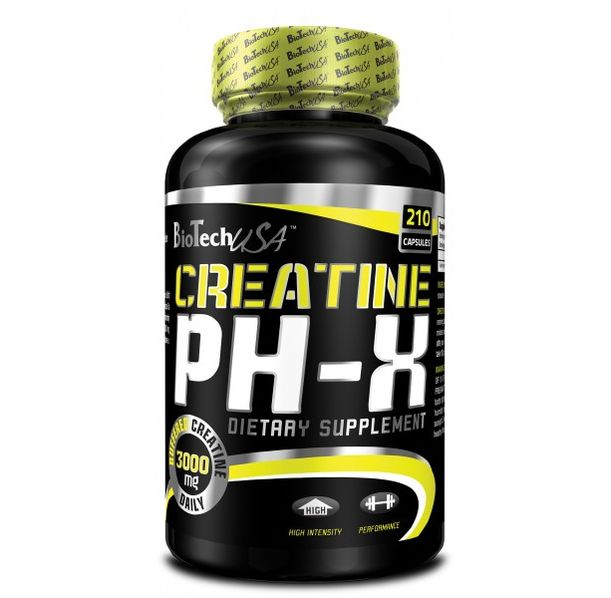 BioTech - Creatine pH-X / 210 caps.