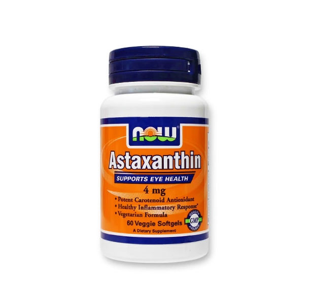 NOW - Astaxanthin 4mg. / 60 Veggie softgels