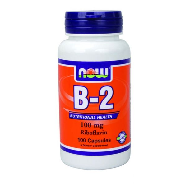 NOW - Vitamin B-2 (Riboflavin) 100mg. / 100 caps.