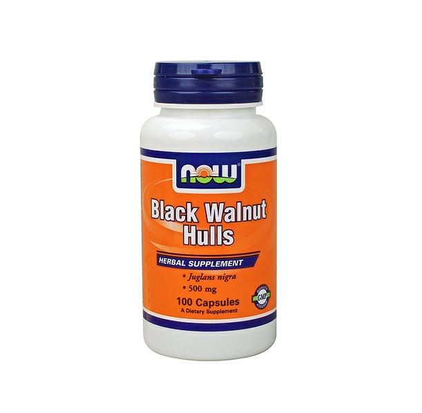 NOW - Black Walnut Hulls 500mg. / 100 caps.