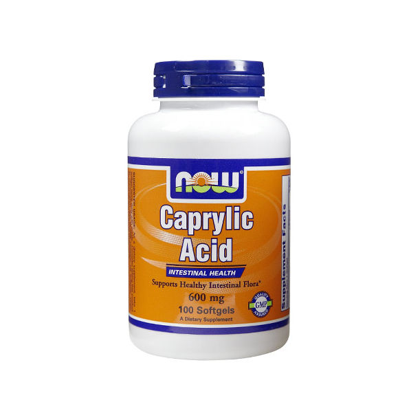 NOW - Caprylic Acid 600mg. / 100 softgels