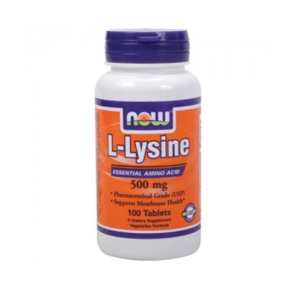 NOW - L-Lysine 500mg. / 100 Tabs.