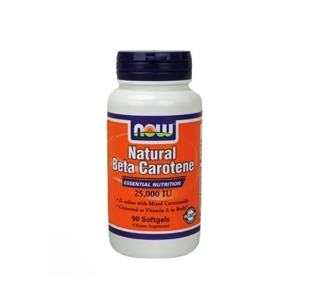 NOW - Beta Carotene Natural 25.000 IU / 90 softgels