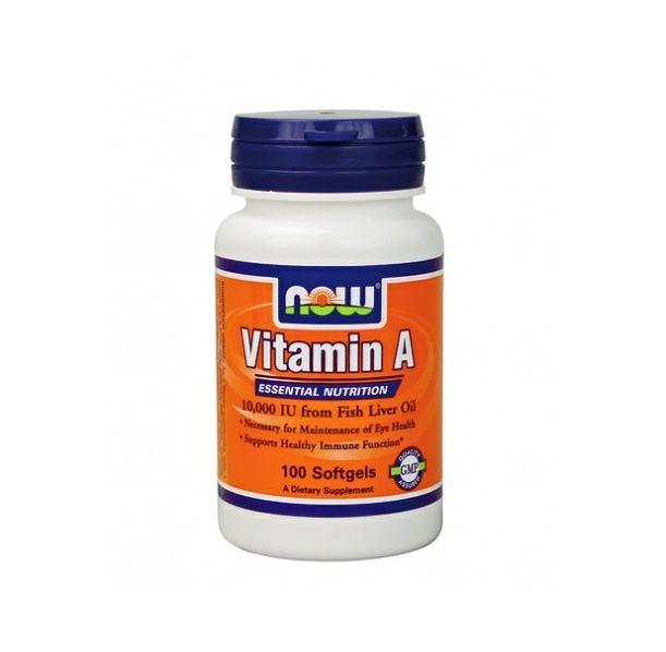 NOW - Vitamin A 10,000 IU / 100 Softgels