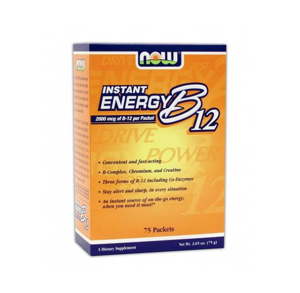 NOW - Instant Energy B-12 / 75 Packs