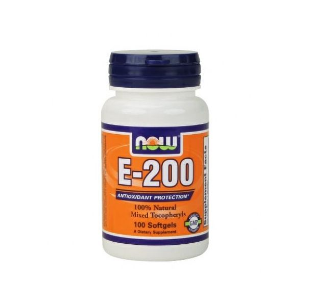 NOW - Vitamin E-200 IU (Mixed Tocopherols) / 100 Softgels
