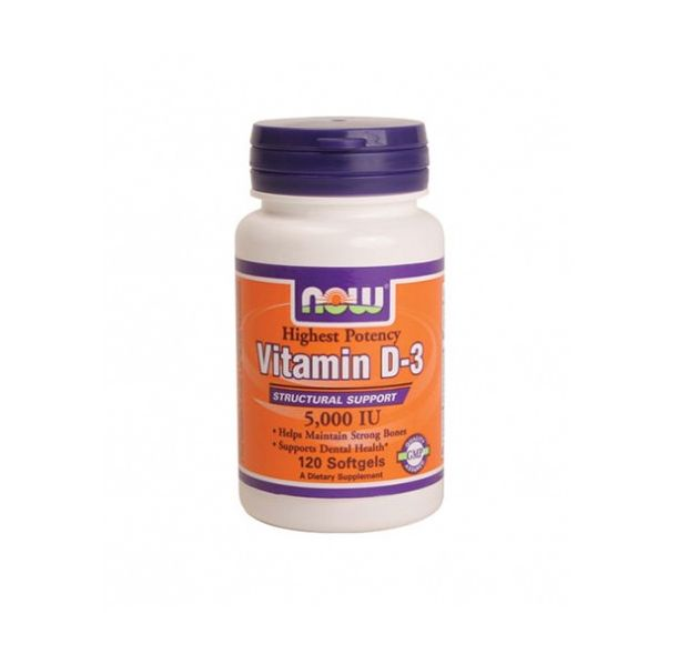 NOW - Vitamin D-3 / 5000 IU / 120 softgels