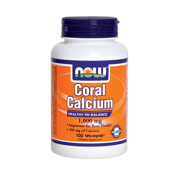 NOW - Coral Calcium 1000mg. / 100 Vcaps.