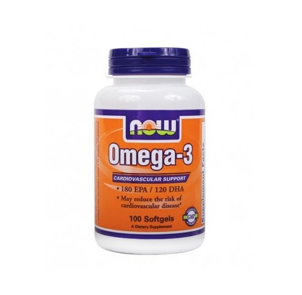 NOW - Omega 3 Fish Oil 1000 mg. / 100 Softgels