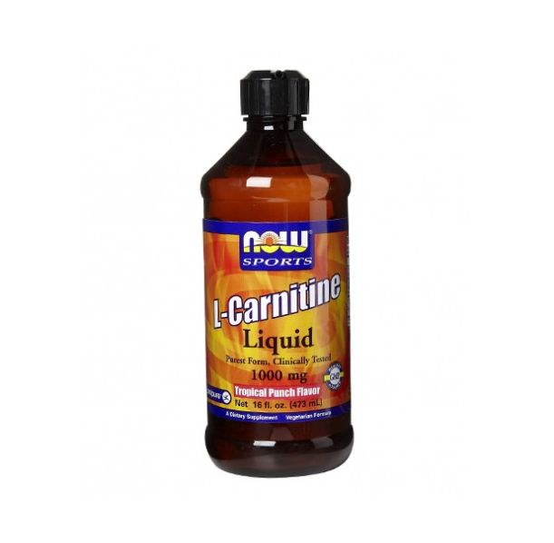 NOW - L-Carnitine Liquid (Tropical Punch) 1000mg. / 473ml.