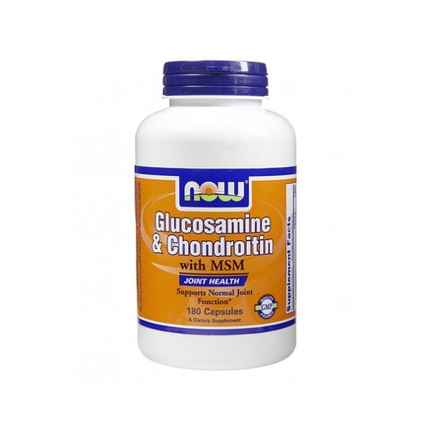 NOW - Glucosamine & Chondroitin with MSM / 180 Caps.