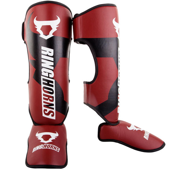 Протектори за крака - Ringhorns Charger Shinguards Insteps - Red​