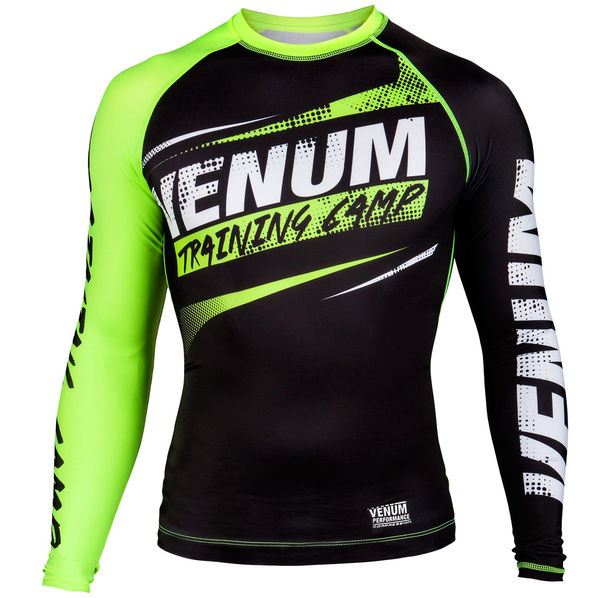 Компресираща блуза - Venum Training Camp Compression T-shirt - Black/Neo Yellow​