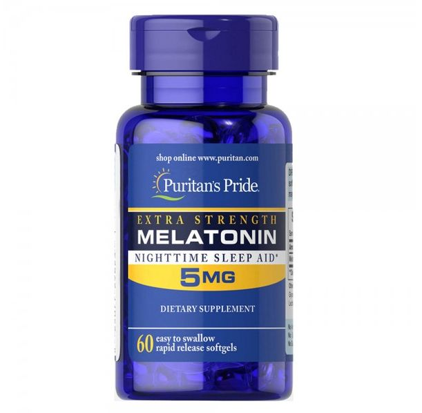 Puritan's Pride -  Extra strenght Melatonin 5mg / 60 таблетки​