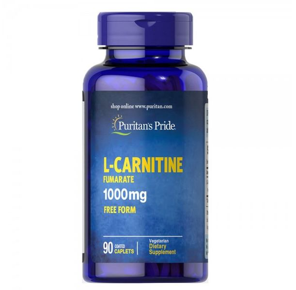 Puritan's Pride - L-Carnitine Fumarate 1000mg  - 90 капсули​
