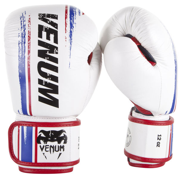 Боксови ръкавици - Venum Bangkok Spirit Boxing Gloves - Nappa leather - White​