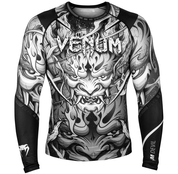 Рашгард - Venum Devil Rashguard - Long Sleeves - White/Black​