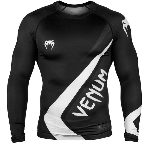 Рашгард - Venum Contender 4.0 Rashguard - Long Sleeves - Black/Grey-White​