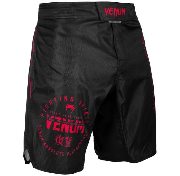 Шорти - Venum Signature Fightshorts - Black/Red