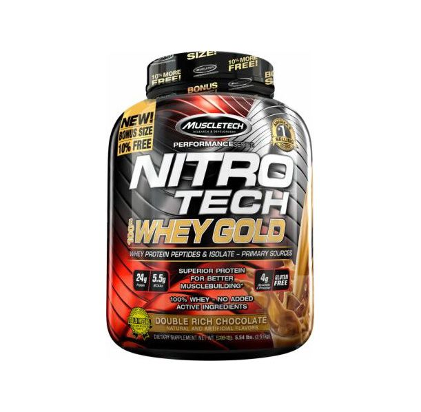 MuscleTech - Nitro Tech Whey Gold / 5.5lbs.