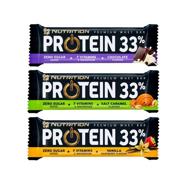 Go ON - Premium Whey Protein Bar 33% - кутия / 25 x 50g​