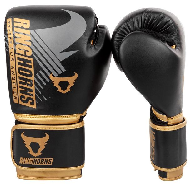 Боксови Ръкавици - Ringhorns Charger MX Boxing Gloves - Black/Gold