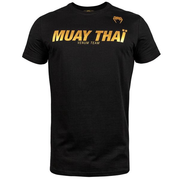 Тениска - Venum Muay Thai VT T-shirt - Black/Gold