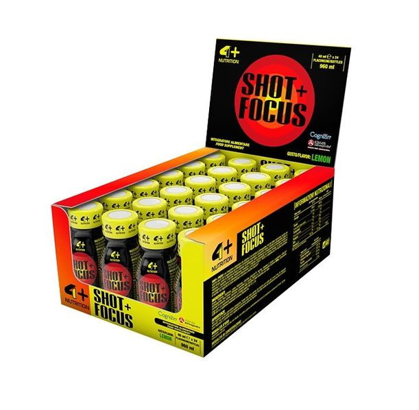 4+ Nutrition SHOT + FOCUS / кутия (24 шота)
