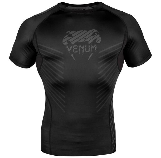 Рашгард - Venum Plasma Rashguard - Short Sleeves - Black/Black