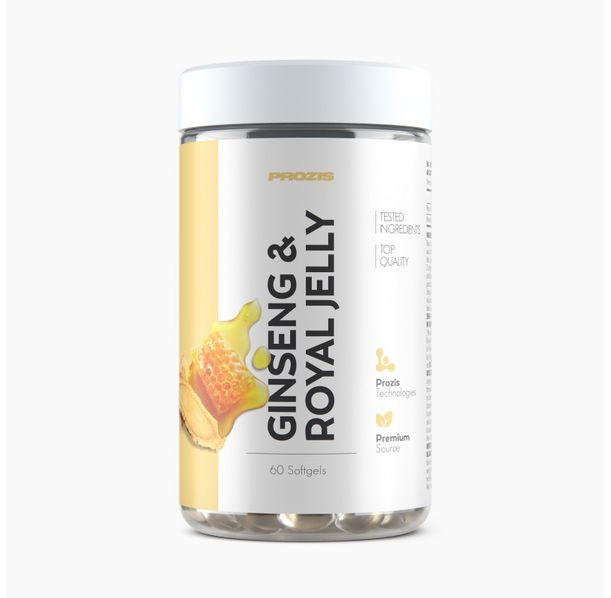Prozis Ginseng + Royal Jelly / 60softgels