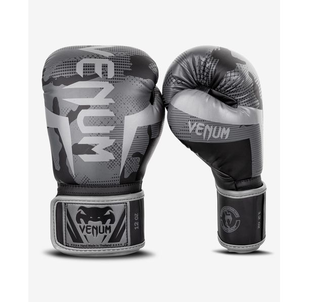 Боксови Ръкавици - Venum Elite Boxing Gloves - Black/Dark camo​