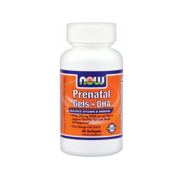 NOW - Prenatal Gels + DHA / 90 Softgels