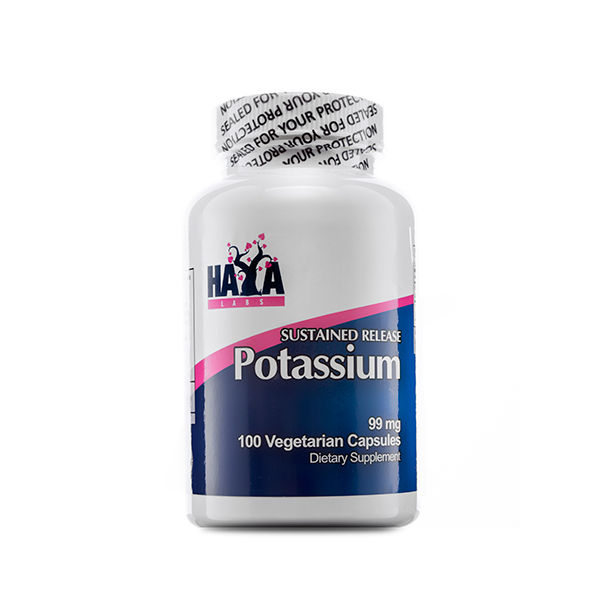 Haya Labs - Sustained Release Pottasium 99mg / 100 caps
